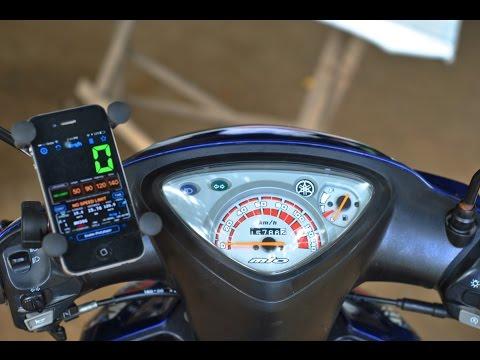 GPS SPEED TEST YAMAHA MIO SPORTY