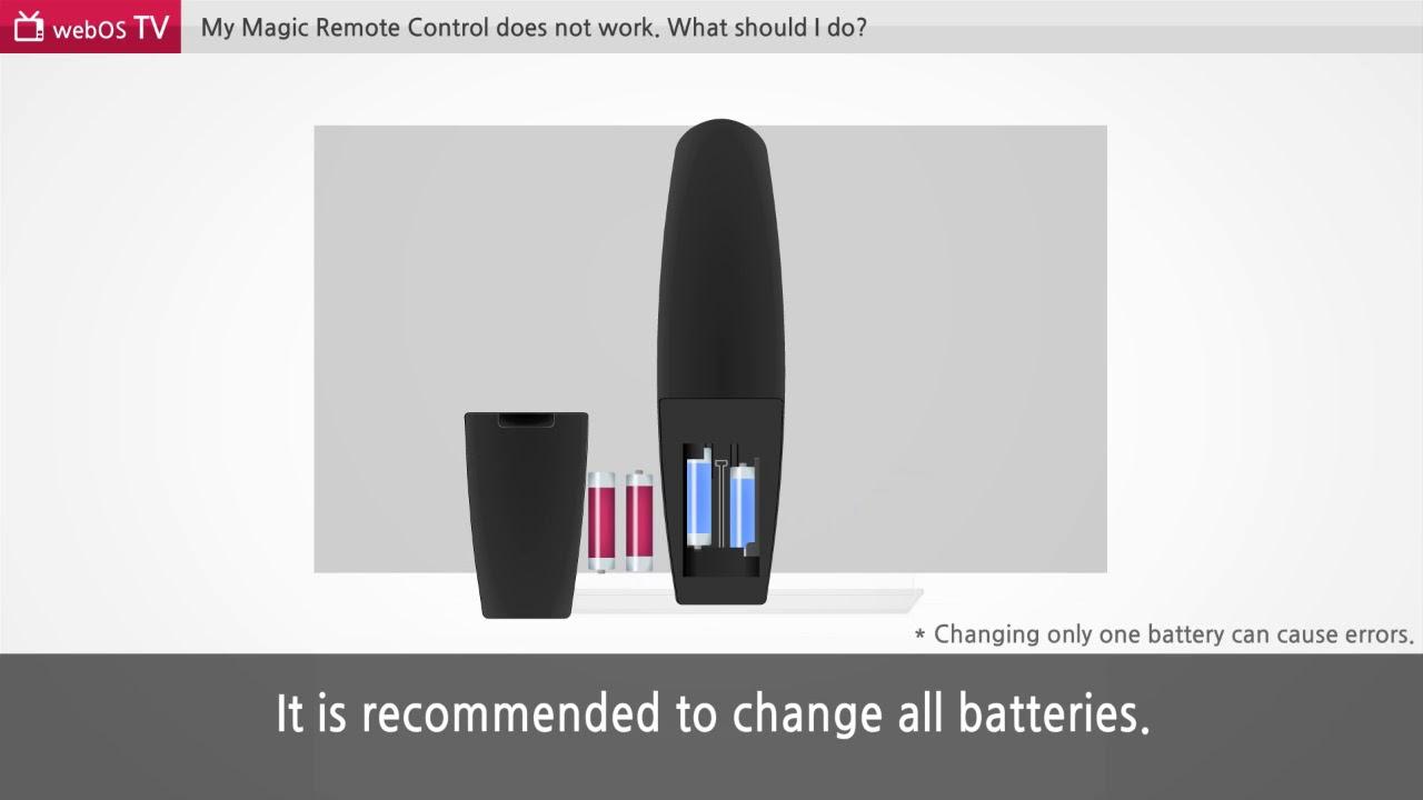 إل جي – ماجيك ريموت كنترول لا يعمل  -  LG Magic Remote Control doesn't work