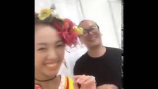 石田安奈 SKE48 TGC〜、たかしくんにあったよー。髪の毛、ない、かわい...