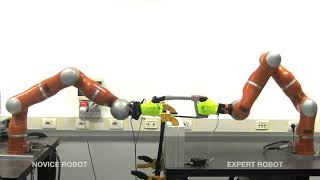 Robots Learning from Robots: A Proof of Concept Study for Co-Manipulation Tasks