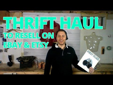 E37: Thrift Haul To Resell On Ebay & Etsy Clothing Vintage BOLOS with blooper