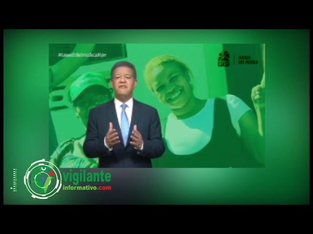 Leonel presenta plan para contrarrestar violencia contra la mujer