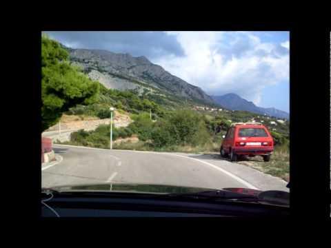 Brela, Chorwacja - stromy wyjazd z kwatery