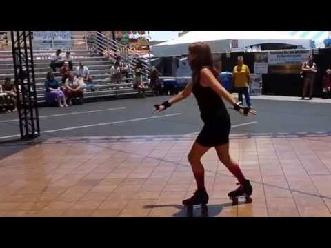 Carolyn Skating to Pure Love at the San Diego Fair