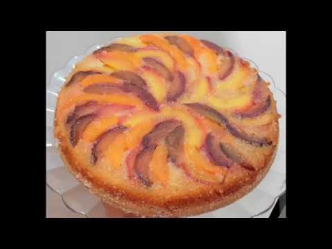 💛-gâteau-renversé-aux-pêches,-abricots-et-prunes