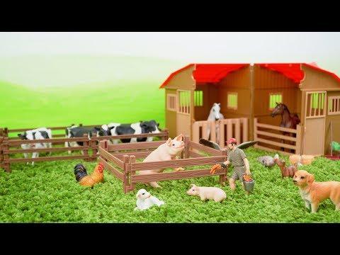 Farm Animals Toys and Farm Barn Playset for Kids