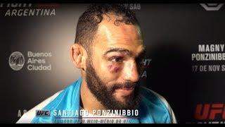 UFC Argentina: Entrevista de backstage com Santiago Ponzinibbio