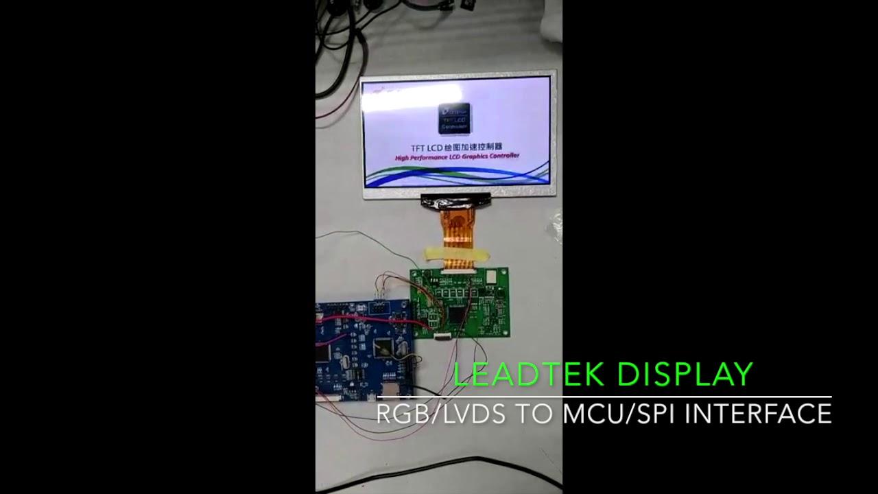 Leadtek Display RGB/LVDS to SPI/MCU interface