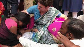 Sonbhadra victim's families break down after meeting Priyanka Gandhi