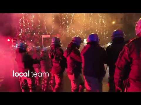 Scontri polizia-anarchici a Modena 16 dicembre 2017: video integrale