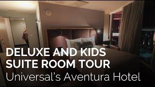 Universal's Aventura Hotel Room Tour - Deluxe Room and Kids Suite