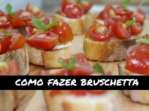 DIY na cozinha: como fazer bruschetta part. chef Danilo Ueno