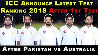 After 1st Test ICC Test Ranking 2018   ICC Announce Latest Test Ranking   Pak vs Aus After Ranking