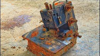 Restoration overlock machine JUKI rusty - Restore old packing machine