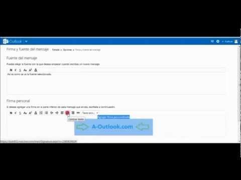 Como agregar imagen a la firma en Outlook.com