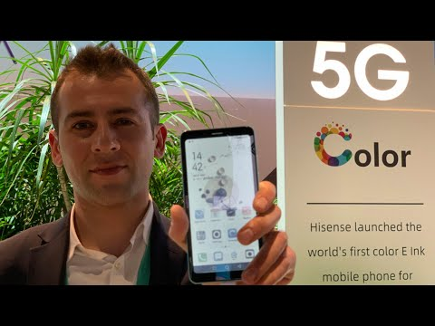 CES 2020: Hisense unveils 5G Color E-Ink Mobile phone