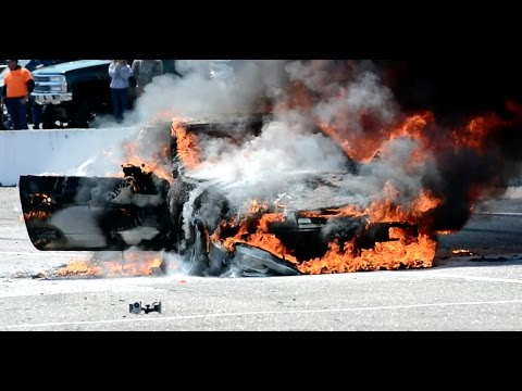 Drift Car Up In Flames – NOPI Nationals Myrtle Beach 2017