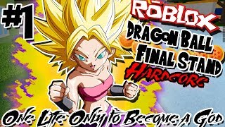 ONE LIFE ONLY TO BECOME A GOD! | Roblox: Dragon Ball Final Stand HARDCORE - Episode 1