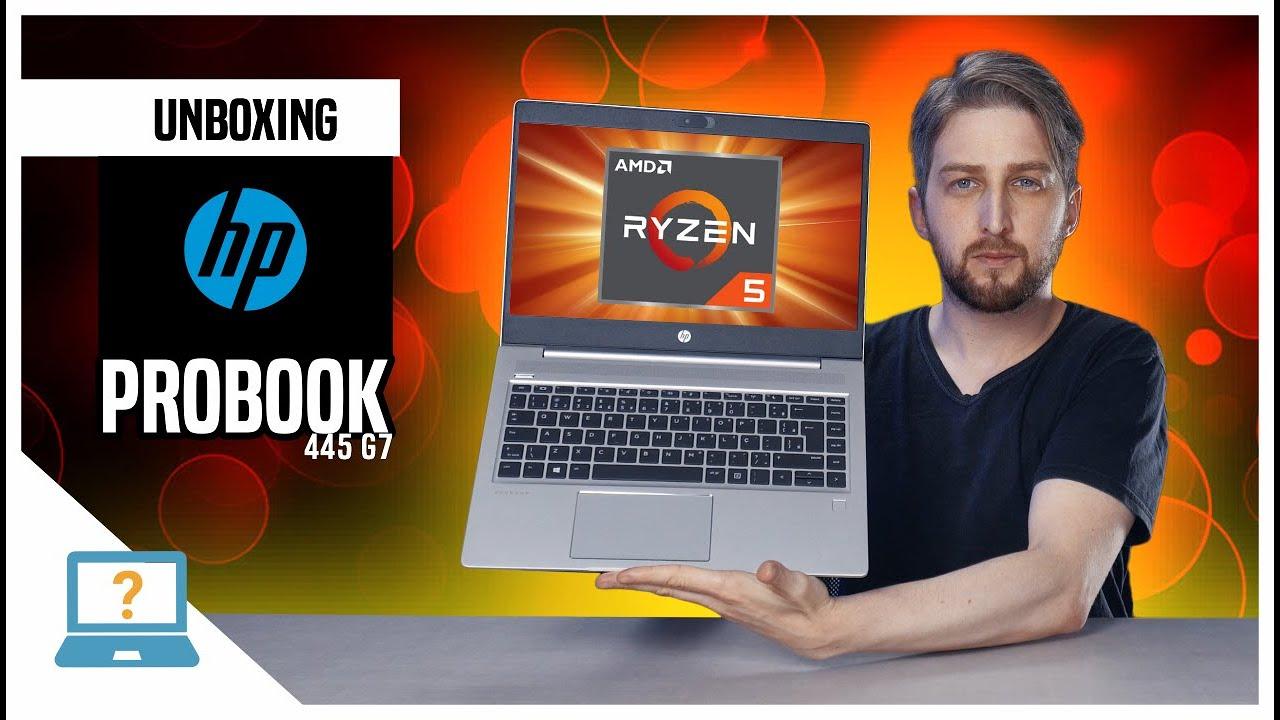 Unboxing Notebook HP ProBook 445 G7 com processador AMD Ryzen 4000 e Radeon VEGA no Brasil 💻 2020