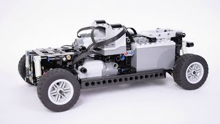 Compact Lego Technic 4-Wheel Drive Chassis (With Instructions)