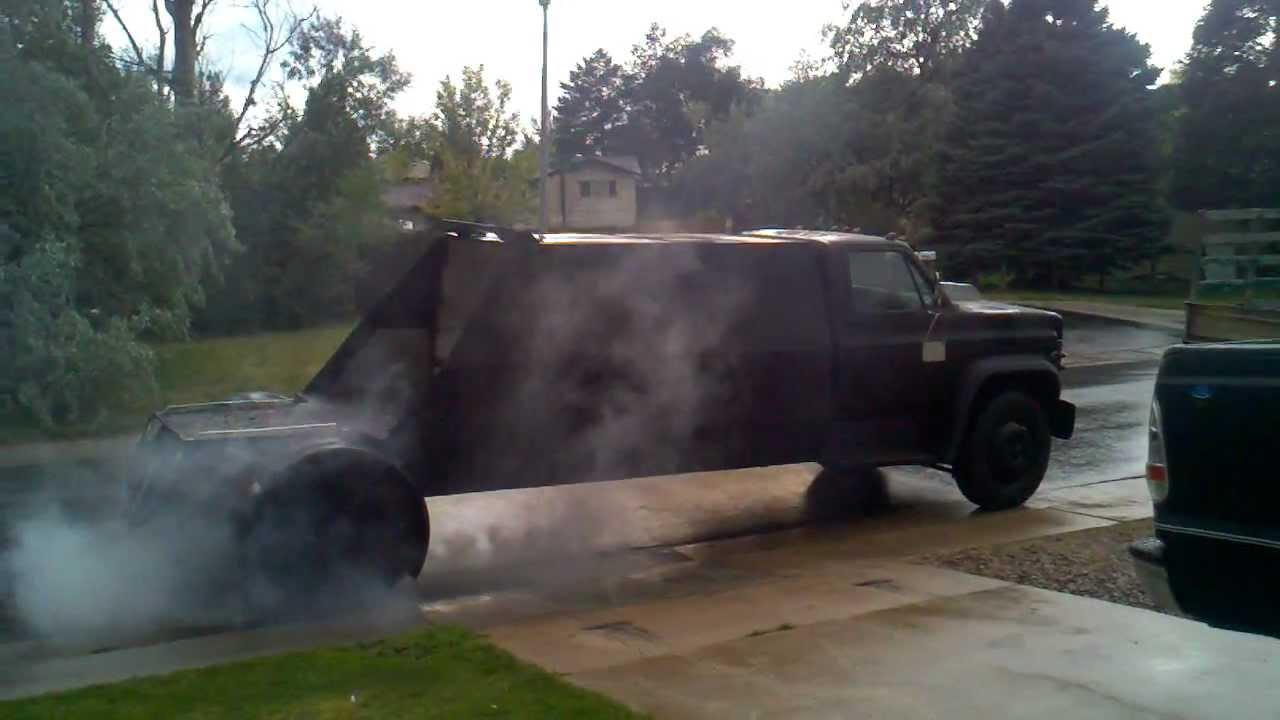 Turbo Diesel Trucks >> doomsday devil truck burnout - YouTube