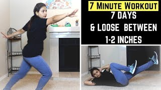 7 DAY CHALLENGE - 7 MINUTE WORKOUT TO LOSE BELLY FAT | Diet And Result Shared