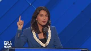 Rep. Tulsi Gabbard nominates Bernie Sanders at DNC 2016