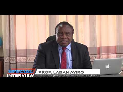 SPECIAL INTERVIEW: Prof. Laban Ayiro; VC Moi University