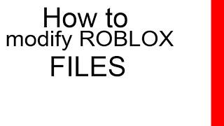 Comment modifier les fichiers de texture Roblox