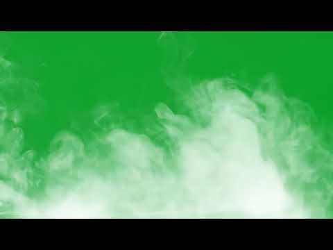 Дым на зеленом фоне, белый дым, хромакей