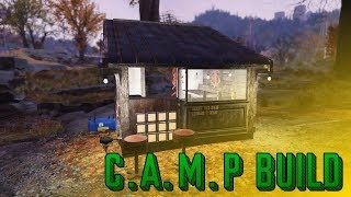 Building in Fallout 76 - Sushi Hut : C.A.M.P Build!