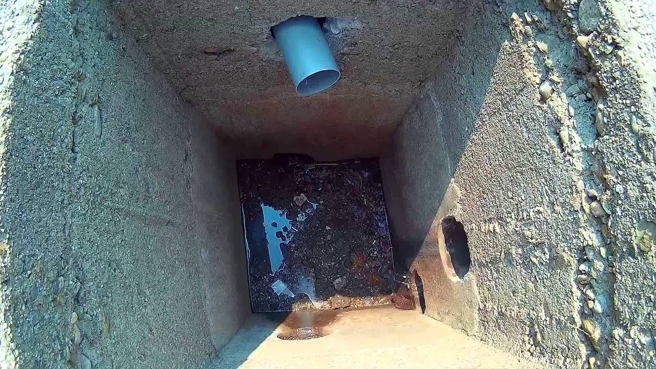 Inside a sewer manhole inlet outlet youtube
