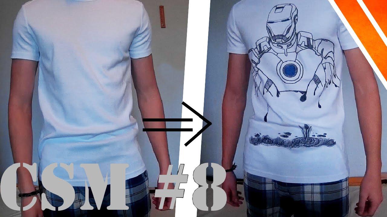 727d66d3bd Csináld magad #8: Egyedi póló minta - YouTube