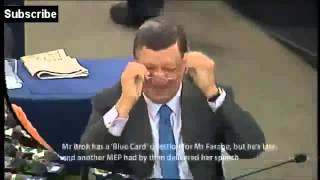Nigel Farage clash with Jose Manuel Barroso in the European Parliament