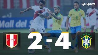 Perú 2 vs. 4 Brasil | Eliminatorias a Qatar 2022 - Fecha 2