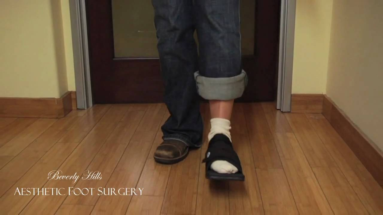 d480a73e1de How to walk with the Post Op Shoe - YouTube