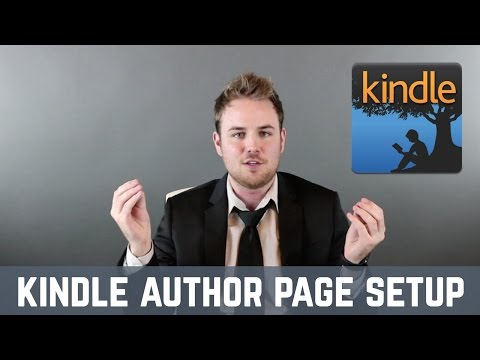 Amazon Kindle Author Page Setup