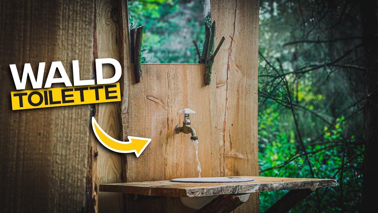 Waldtoilette selber bauen - Handwaschbecken und Wasseranschluss | Tom Siesing