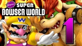 Epic Super Bowser World (100% ft. Wario) Part 1: Wario statt Mario