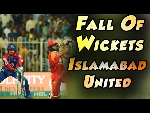 Islamabad United Fall Of Wickets |Karachi Kings Vs Islamabad United| Match 30 | 16 Mar| HBL PSL 2018