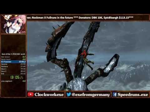 God of War 3 Remastered any% NG+ Speedrun former World Record [55:12]