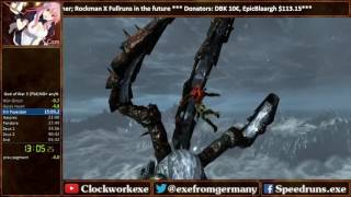God of War 3 Remastered any% NG+ Speedrun World Record [55:12]