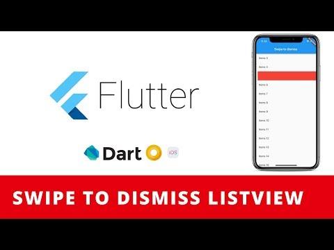 Flutter: Swipe to dismiss/delete ListView Tutorial - YouTube