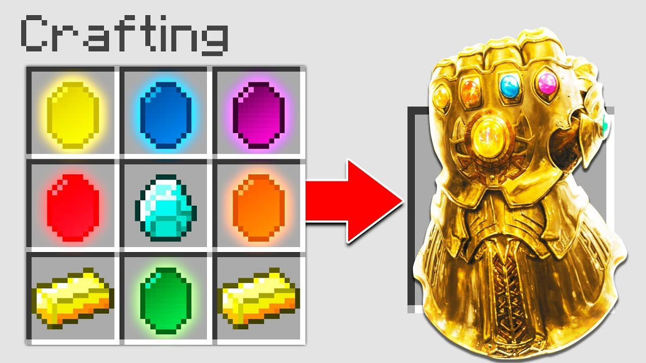 HOW TO CRAFT THE INFINITY GAUNTLET IN MINECRAFT! (AVENGERS INFINITY WAR)