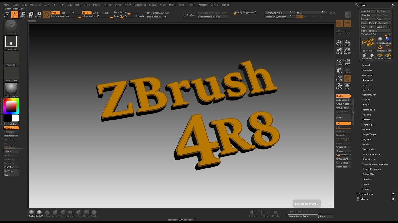Zbrush 4R8 Customize UI
