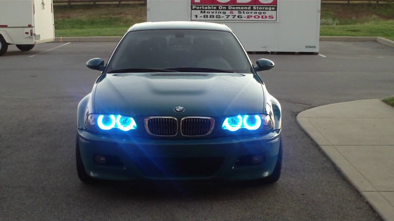multi colored e46 bmw m3 angel eyes doovi. Black Bedroom Furniture Sets. Home Design Ideas