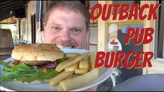 Aussie Hamburger at an Outback Pub