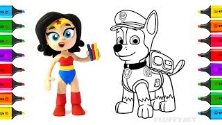 How to Draw & Color PAW Patrol Chase | Coloring Pages Kit Toys for Children | Art Colors for Kids