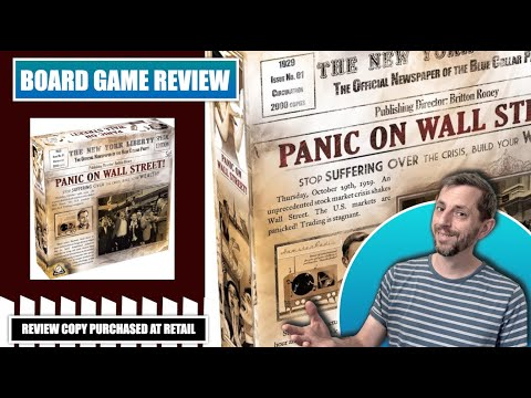 Europhile Reviews: Panic on Wall Street board game