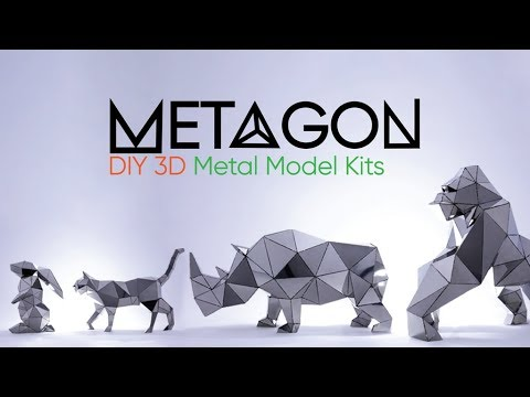 METAGON | Amazing DIY 3D Metal Model Kits, Easy, Large